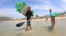 """Headbang """"Prancha Ecológica"""", surfeando sobre PET"""