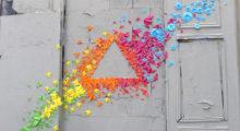 Headbang Lo más cool que se ha hecho en las ciudades: graffitis con origami