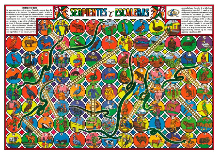 Juegos de mesa que delatan que eres treint n headbang for Escaleras y serpientes imprimir