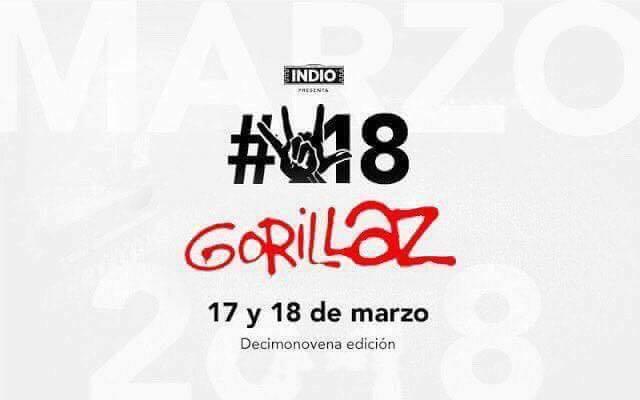 Gorillaz para el Vive Latino 2018