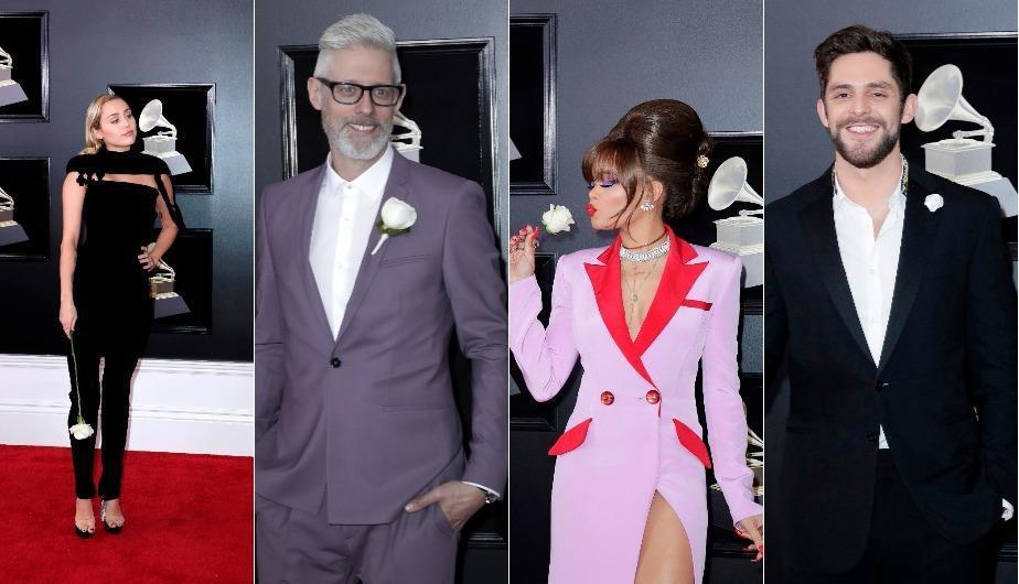 Un rosa blanca, el emblema de protesta en los Grammy