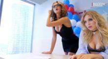 Headbang Chicas en lencería, así es la campaña electoral en Rusia